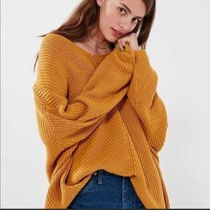 Urban Outfitters UO M mustard oversized sweater